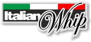 Funny ITALIAN WHIP Slogan With Italian Flag Novelty Bumper Sticker Design Vinyl Car Sticker Decal 160x70mm